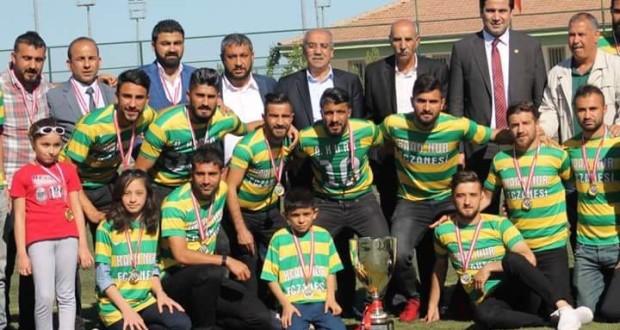 11 Nisan Spor Kulübü Bahattin CANBEYLİ Süper Amatör Lig Şampiyonluk Kupası Töreninden Kesitler.