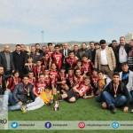 Karaköprü Bld. spor ve yönetim kurulu üyelerimizle  U-17 takımının kupa töreni sonrası hatırası